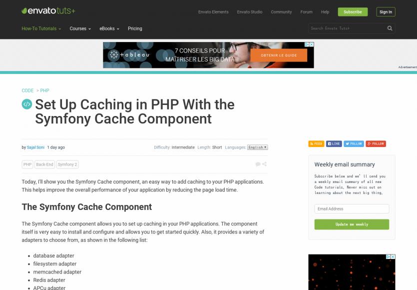 Mettre en place du cache sur vos pages PHP avec le Symfony Cache Component