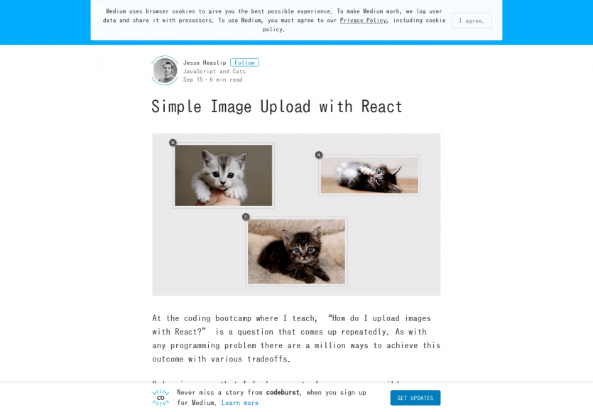 Un système d'upload simple pour React.js