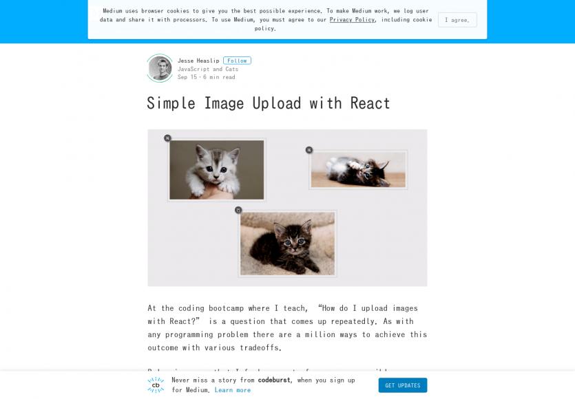 Un système d'upload simple pour React.js