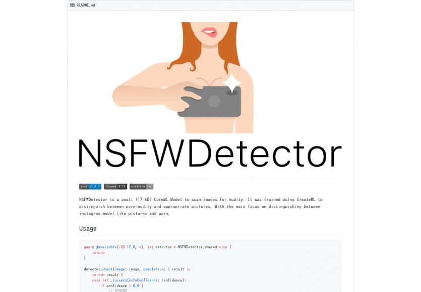 NSFWDetector: Un outil de détection des images pornographiques vs nudité