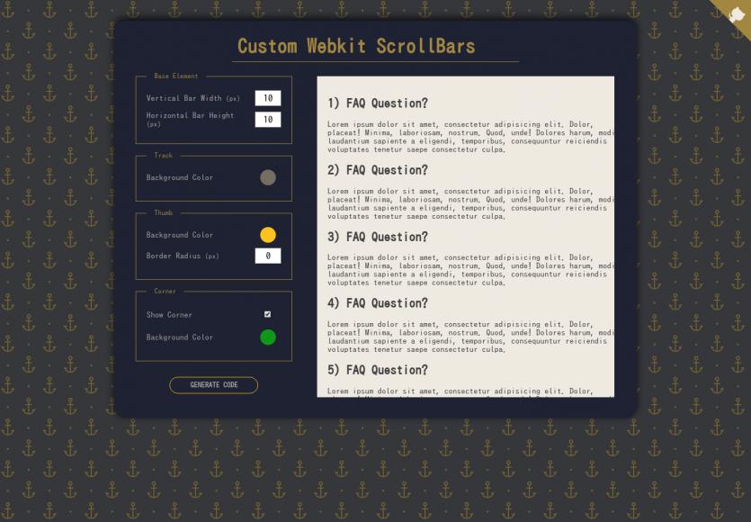 Taste your scroll : générez des scrollbar de couleur pour vos pages web
