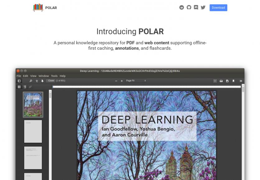 Polar : une app Electron permettant de créer votre base de connaissances avec PDF et captures web annotéeu