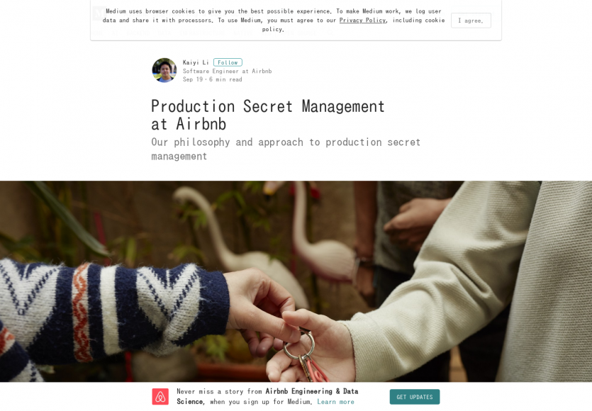La mise en place du production secret management chez Airbnb