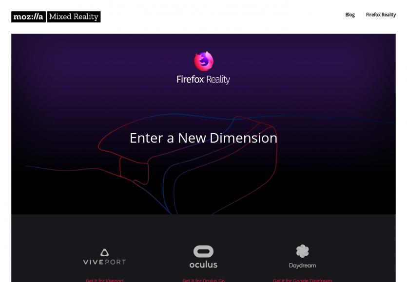 Firefox Reality: Un nouveau navigateur dédié aux contenus de réalité virtuelle