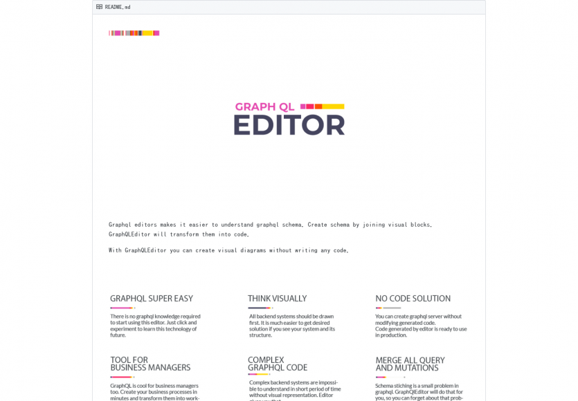 GraphQL Editor: Générez le code GraphQL à partir de diagrammes visuels et interactifs