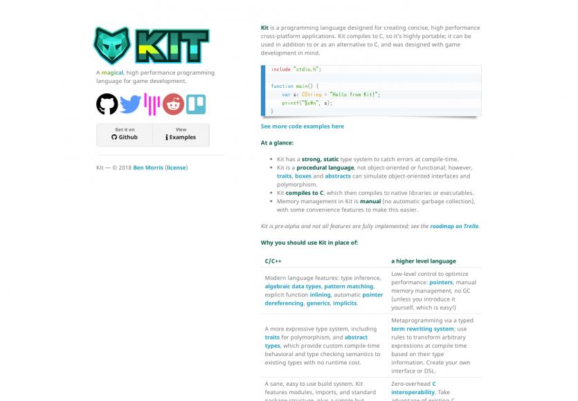 Kit: Un langage de développement dédié à la création de jeux vidéos performants