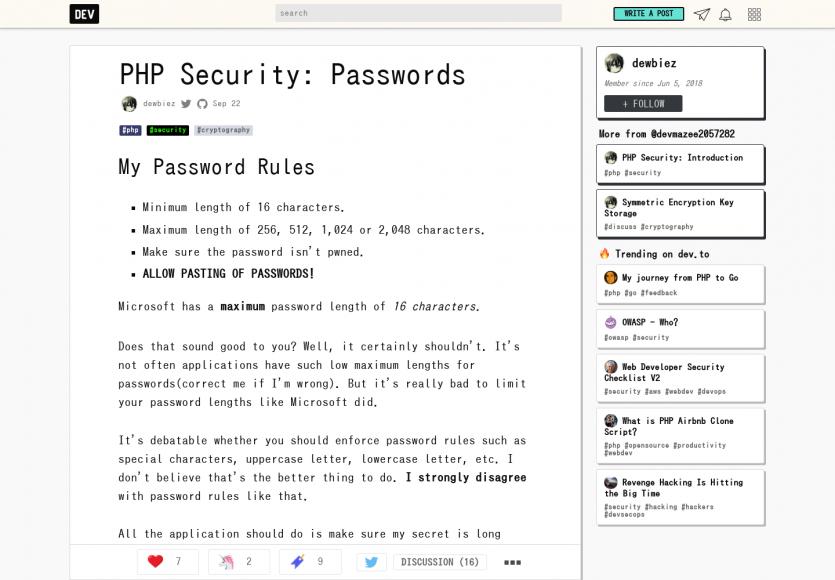 Une réflexion autour de la sécurité des mots de passe complexes en PHP