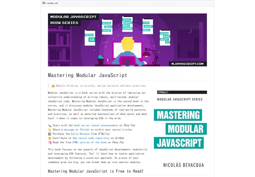 Mastering Modular Javascript: Un livre sur les bonnes pratiques en architecture Javascript