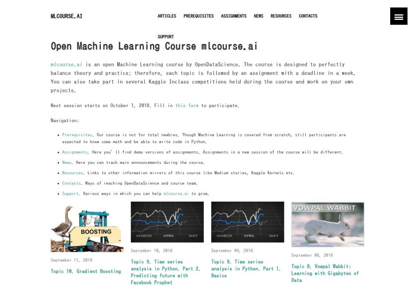 ML Course : des tutoriels pour apprendre le Machine Learning