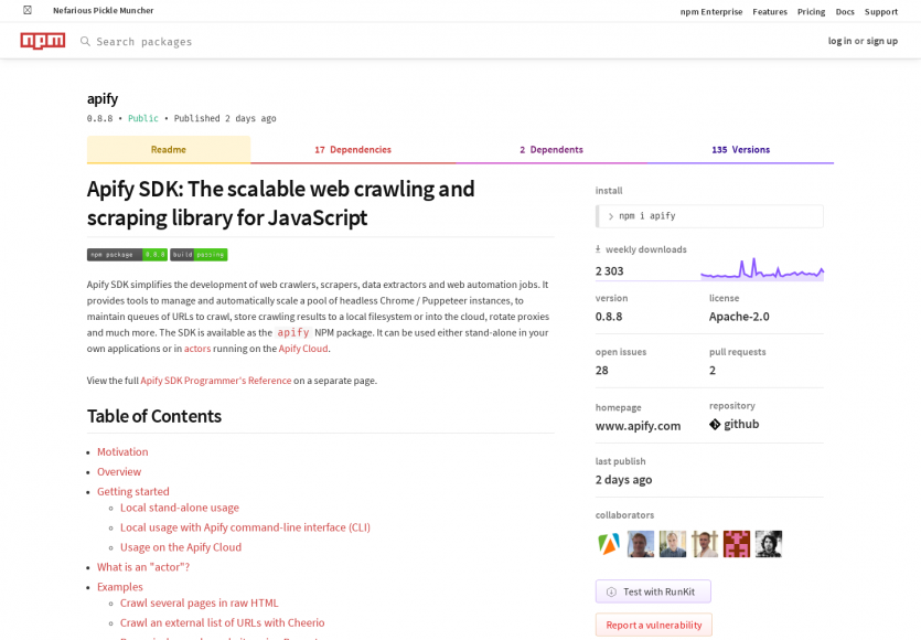 Apify SDK: Un crawler web JS scalable basé sur puppeteer
