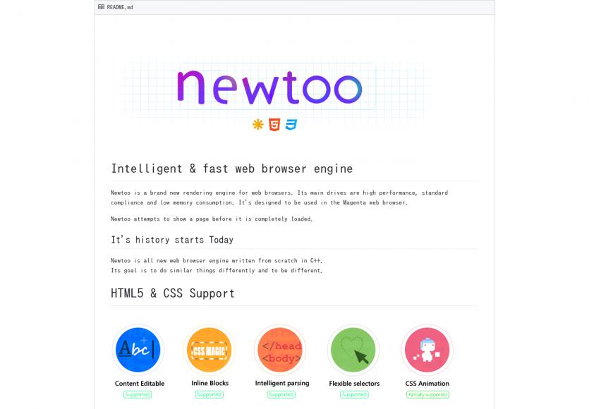 Newtoo : un nouveau moteur de rendu pour navigateurs web prometteur