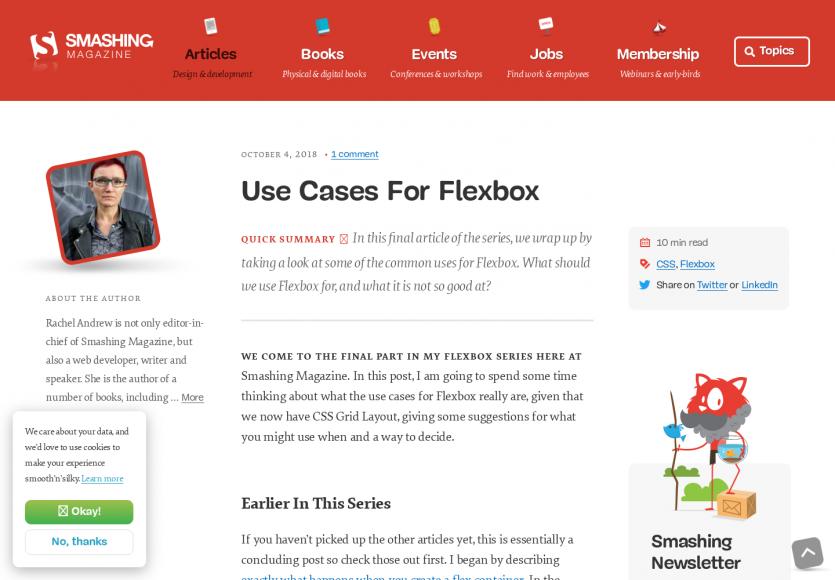 Quels sont les bons cas d'utilisation de FlexBox en CSS ?