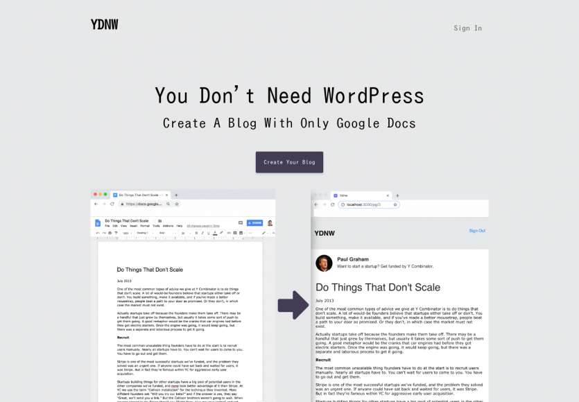 You don't need WordPress : créez un blog simple avec Google Docs