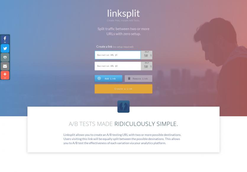 LinkSplit: Diviser le trafic vers différentes URL pour faire de l'A/B Testing sans configuration
