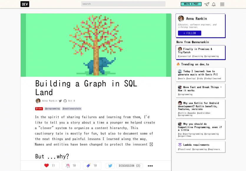 Construire un graphe dans le monde du SQL