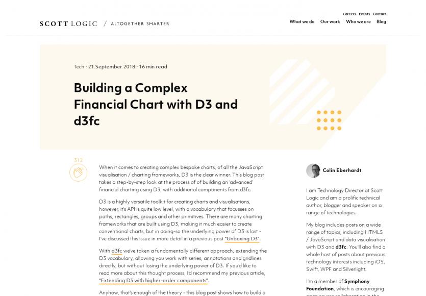 Créer un graphe financier complexe avec D3.js et d3fc