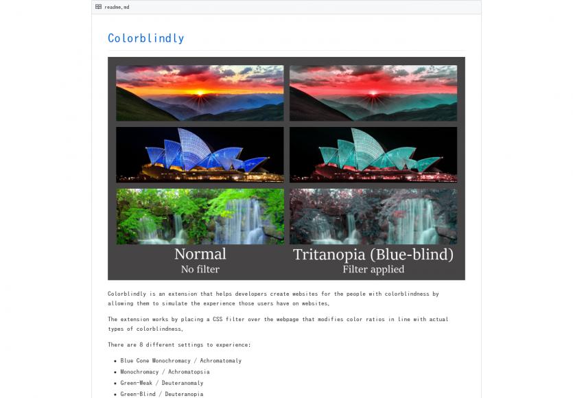 Colorblindly : une extension Chrome pour simuler les problèmes de perception de couleurs