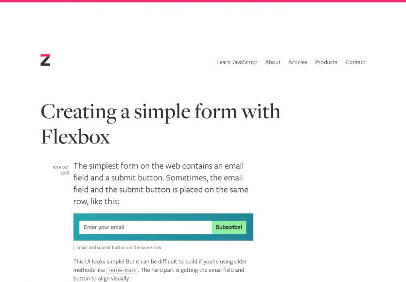 Créer un simple formulaire avec Flexbox