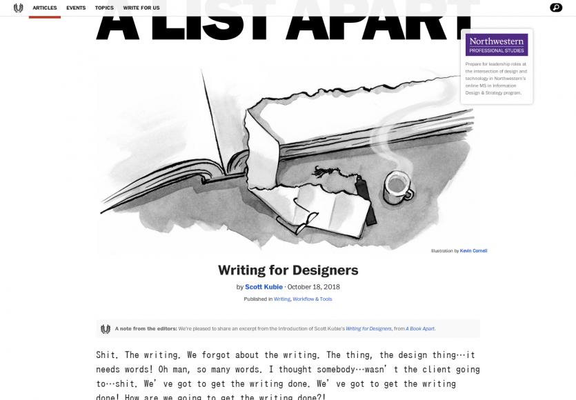 Rédiger du contenu pour les designers
