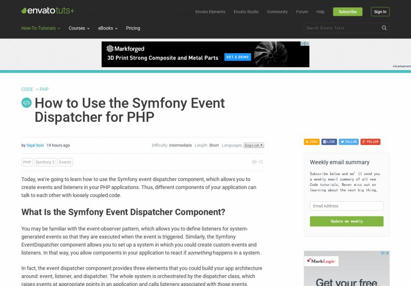 Comment utiliser le composant Symfony Event Dispatching dans un projet PHP