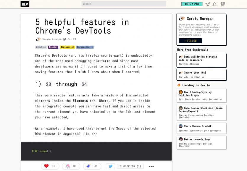 Chrome DevTools : 5 fonctionnalités bien pratiques à connaître