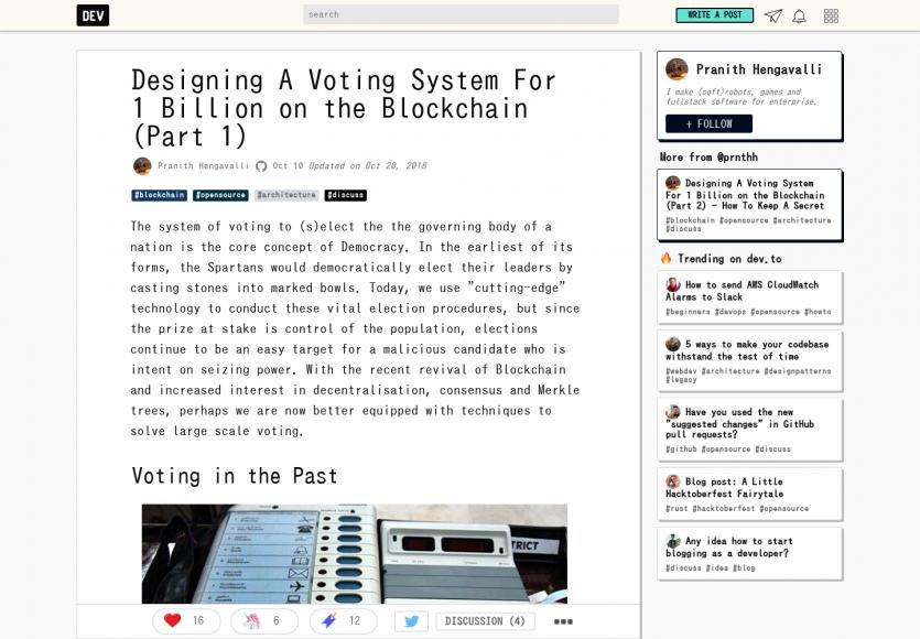 Designer un système de vote sur la blockchain pour 1 million de personnes