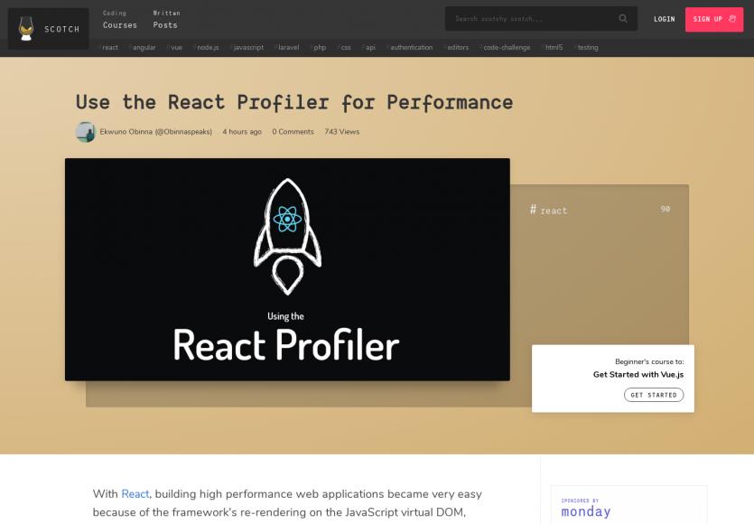 Utiliser le profiler React pour améliorer vos performances