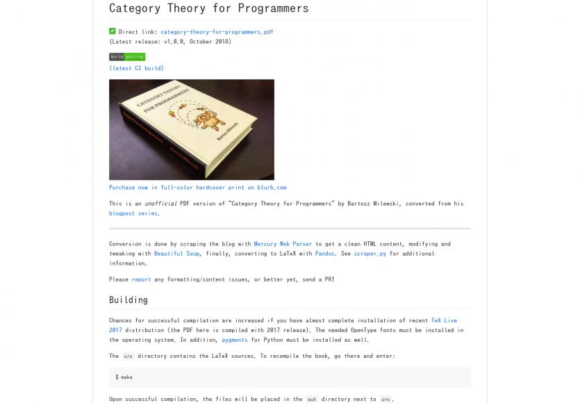 Un ebook complet sur la théorie des catégories pour les développeurs