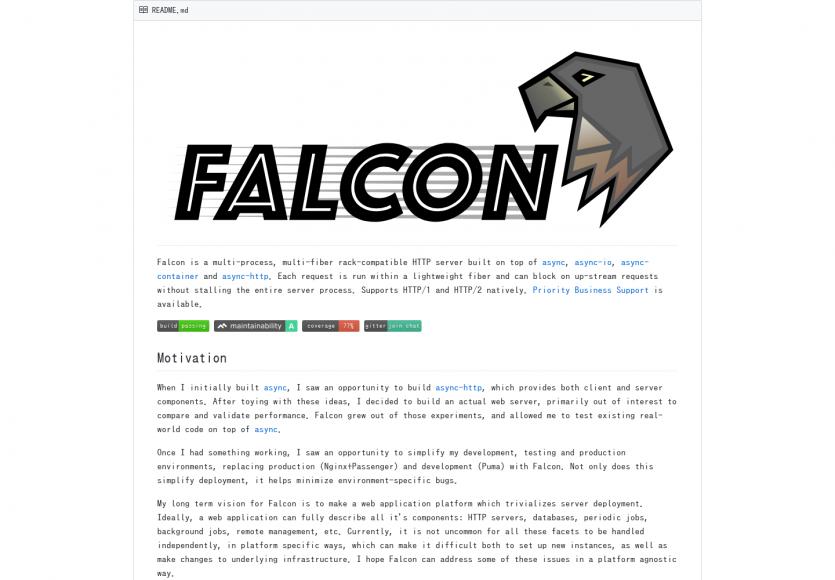Falcon: Un serveur HTTP/2 performant pour Ruby