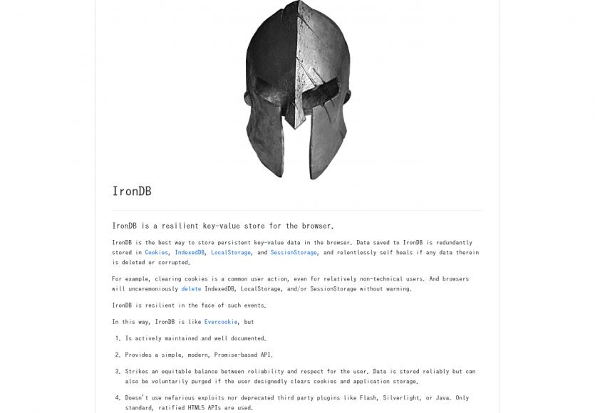 IronDB: Une solution de stockage clé-valeur redondante pour navigateurs
