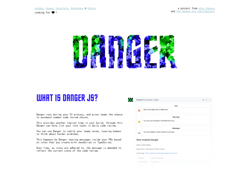 Danger.js - Un outil d'aide aux code reviews intégré à votre process de deploiement auto