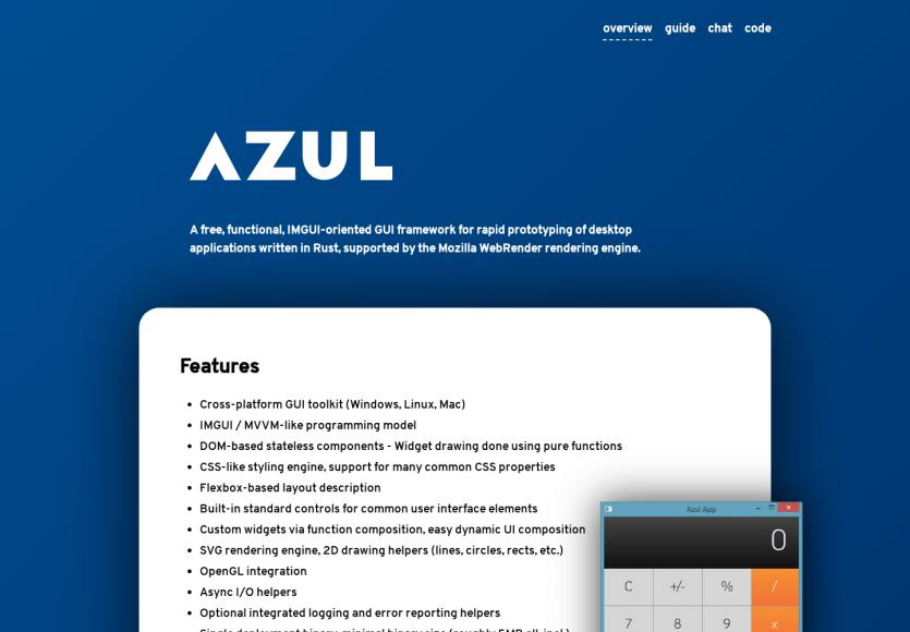 Azul: Un framework pour créer des app Desktop cross-OS en Rust