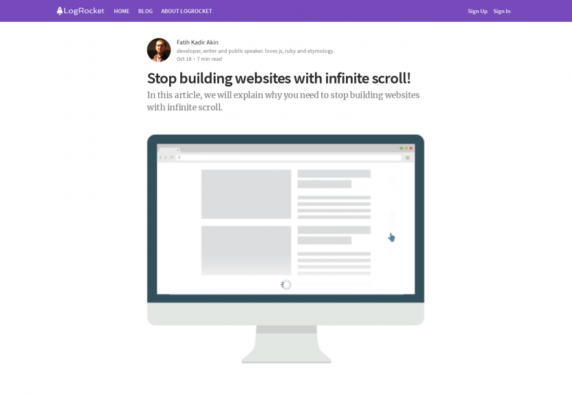 Arrêtez de construire des sites web avec de l'infinite scroll