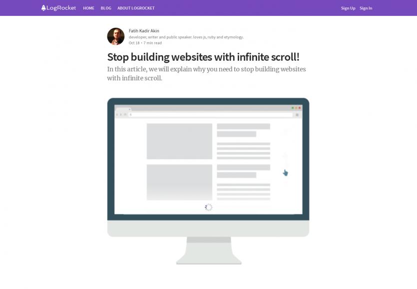 Arrêtez de construire des sites web avec de l'infinite scroll