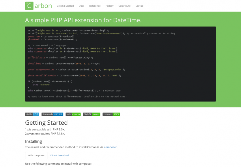 Carbon: Une extension API simple pour manipuler des DateTime en PHP