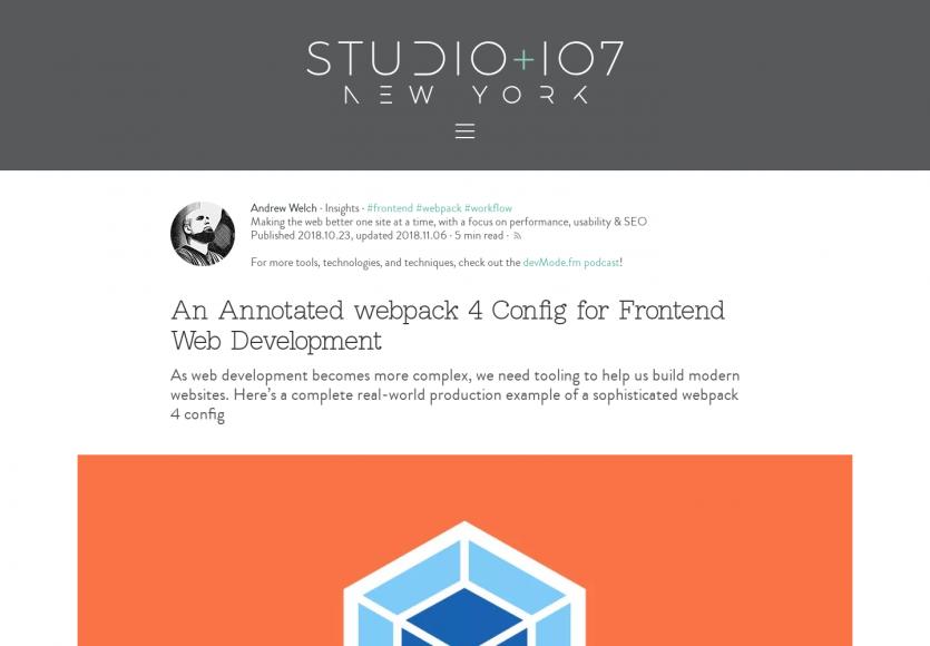 Une configuration Webpack 4 annotée pour un environnement de dev frontend efficace