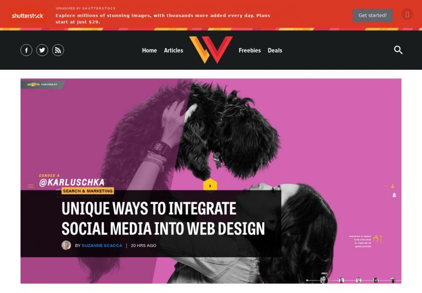 S'inspirer des réseaux sociaux pour la création de webdesign