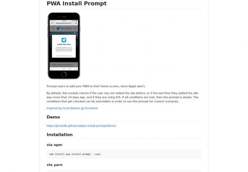 PWA install prompt : Un script JS pour demander à vos visiteurs d'ajouter votre PWA à leur smartphone
