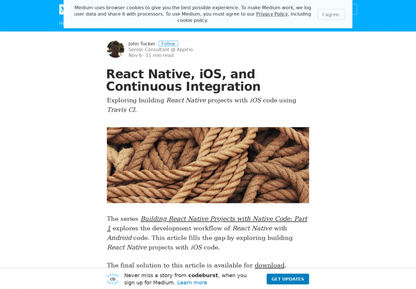 Intégration continue d'application iOS développée en React Native