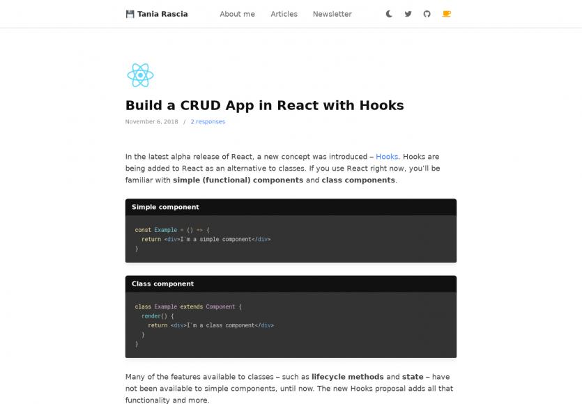Créer une application de CRUD basique avec les Hooks React.js