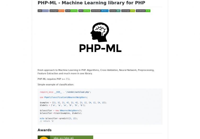 PHP-ML : une bibliothèque de machine learning pour PHP