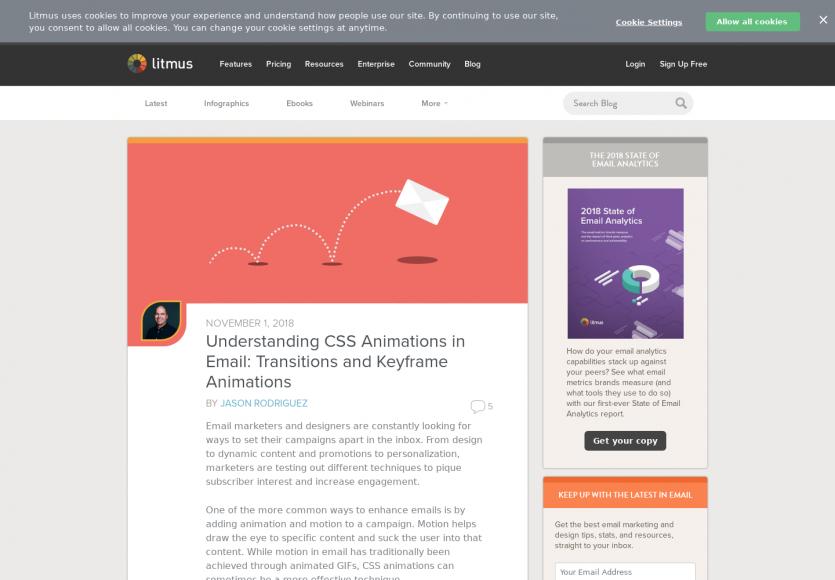 Les animations CSS dans les emails : keyframes et transitions