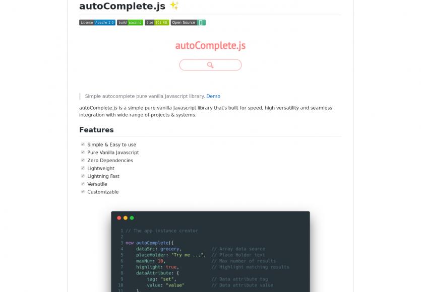 Autocomplete.js : un système d'autocomplétion en VanillaJs sans dépendance pour apps web