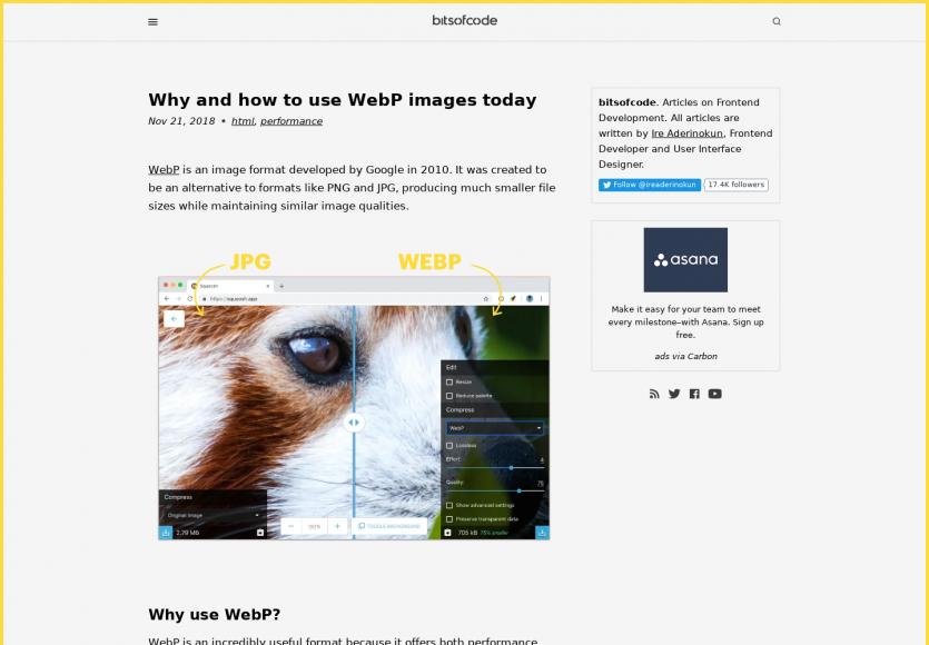 Compresser ses images avec WebP aujourd'hui