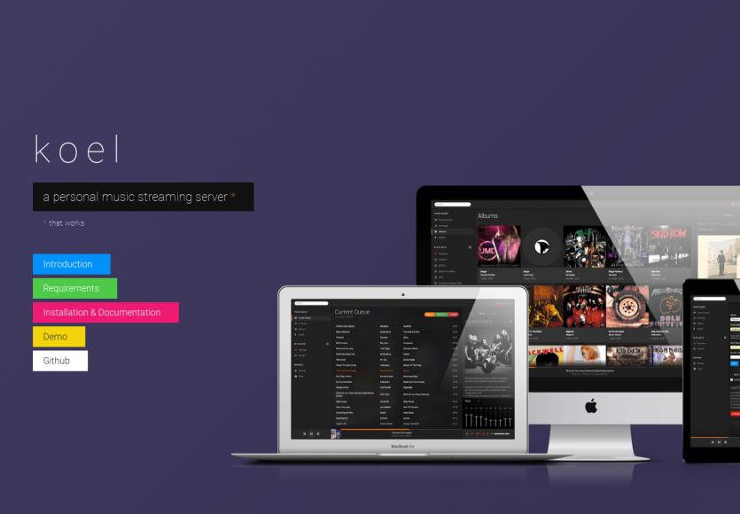 Koel : une plateforme de streaming musical open source développée en Laravel et VueJs