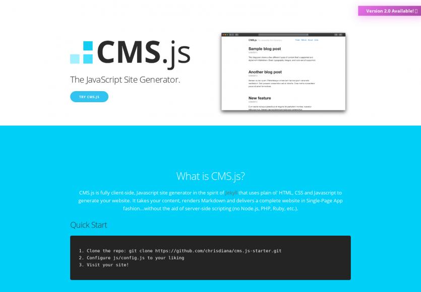 CMS.js : un générateur de sites statiques en Javascript basés sur du Markdown