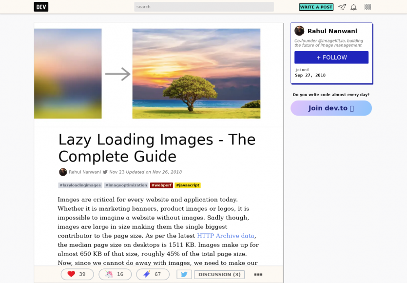 Un guide complet sur du Lazy loading d'images
