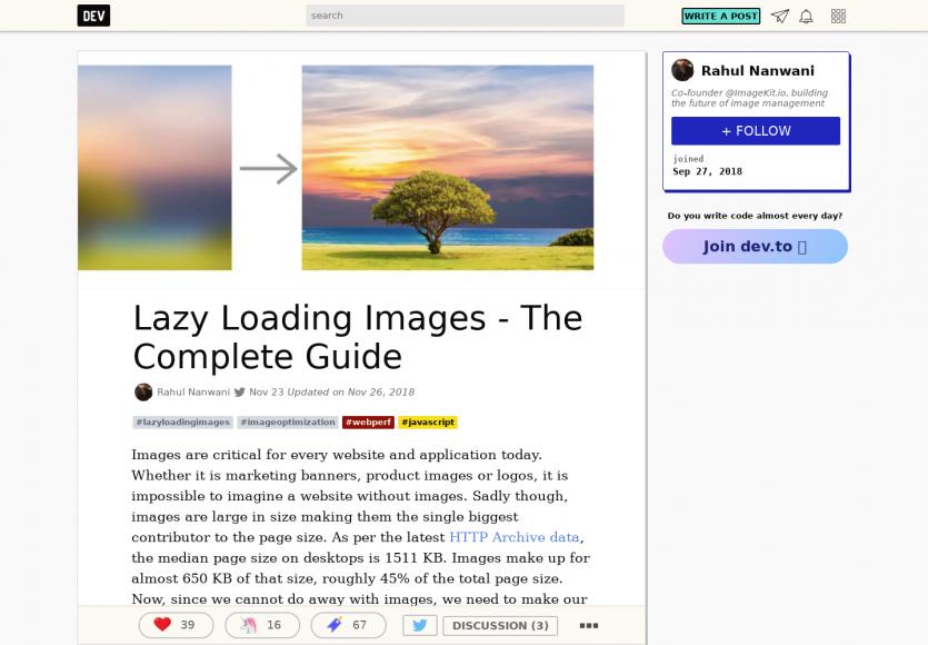 Un guide complet sur du Lazy loading d'images