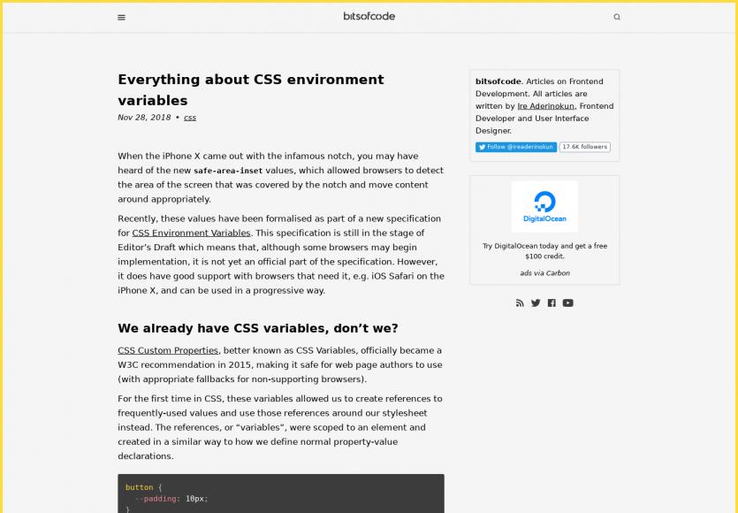 Focus sur les variables d'environnement en CSS