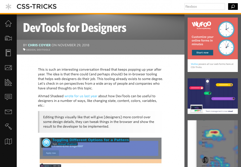 Chrome DevTools pour les webdesigners